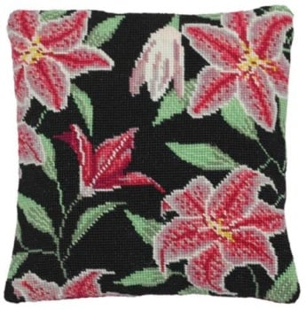 Stargazer Lily Herb Pillow Tapestry