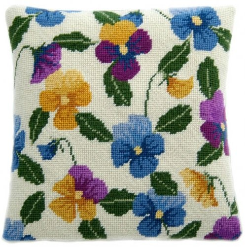 Pansy Garden Herb Pillow Tapestry