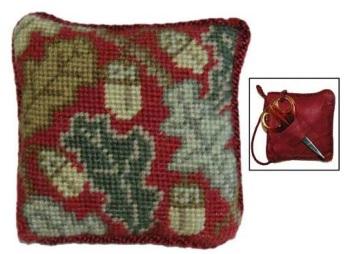Red Acorn Pin Cushion/Scissor Keep kit