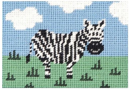 Zebedee Zebra Beginners Tapestry