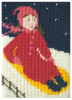 Daisy does Sledging Beginners Tapestry