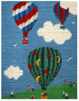 Lift Off Balloons Tapestry Kit
