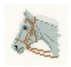 Grey Pony - Mini Cross Stitch Kit