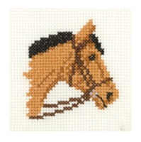 Bay Pony - Mini Cross Stitch Kit