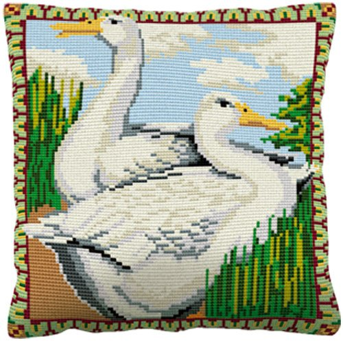 Aylesbury Ducks - Cross Stitch (printed canvas)
