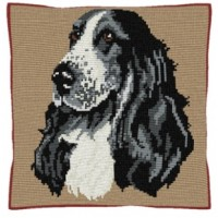 Cocker Spaniel - Cross Stitch (printed canvas)