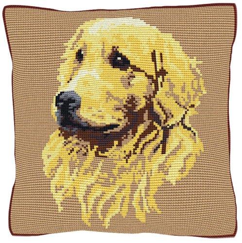 Golden Retriever Beige - Cross Stitch (printed canvas)
