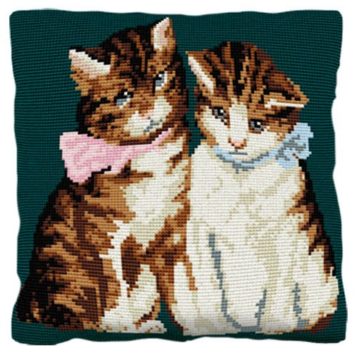 Kittens - Cross Stitch (printed canvas)