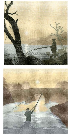 Gone Fishing and The Angler - Fishing Cross Stitch