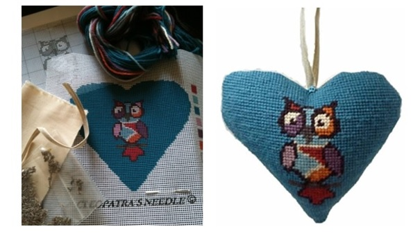 Lavender Hearts tapestry kits by Cleopatras Needle.