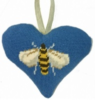 Bee Lavender Heart Tapestry