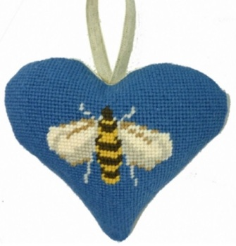 Bee Lavender Heart Tapestry (Buy 2 for £27)