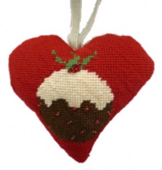 Christmas Pudding Heart Tapestry (Buy 2 for £27)