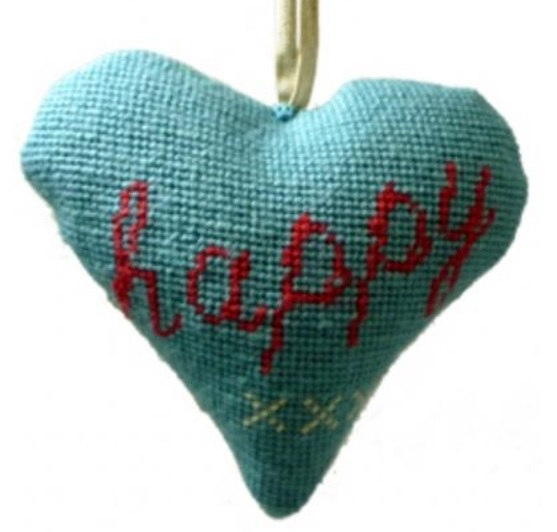 Happy Lavender Heart Tapestry
