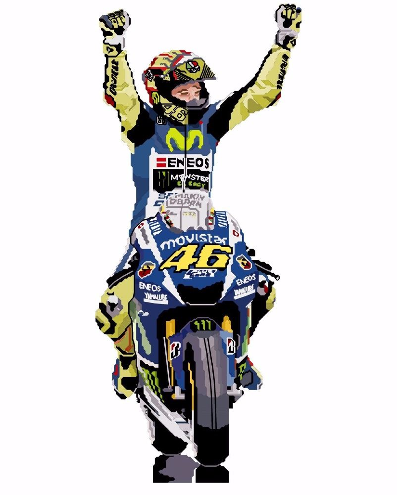 Motogp Valentino Rossi & other Sport Cross Stitch