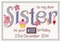 Sister Birthday Sampler Kit - Nia Cross Stitch