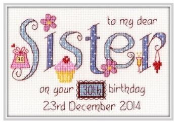 Sister Birthday Sampler Kit - Nia Cross Stitch