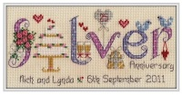 <!-- 022 -->Silver Anniversary 25 Years - Nia Cross Stitch