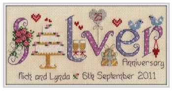 Silver Anniversary 25 Years - Nia Cross Stitch