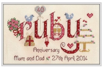 Ruby Anniversary 40 Years - Nia Cross Stitch