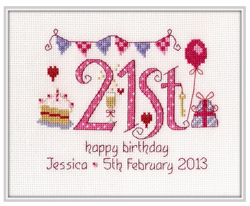 21st Birthday Sampler Kit - Nia Cross Stitch