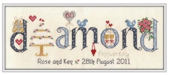 Diamond Anniversary 60 Years - Nia Cross Stitch