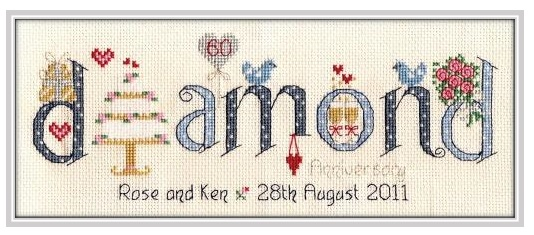 Diamond Anniversary - Nia Cross Stitch