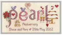 <!-- 023 -->Pearl Anniversary 30 Years - Nia Cross Stitch