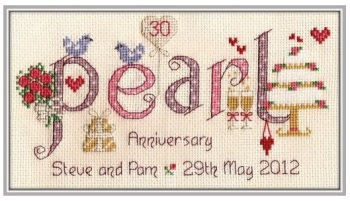 Pearl Anniversary 30 Years - Nia Cross Stitch