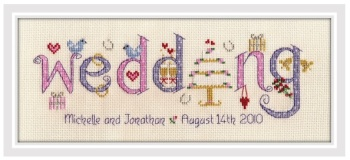 Wedding Sampler Kit - Nia Cross Stitch Sampler