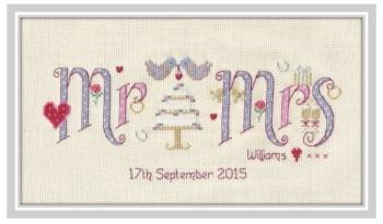 Wedding Mr & Mrs Sampler Kit - Nia Cross Stitch