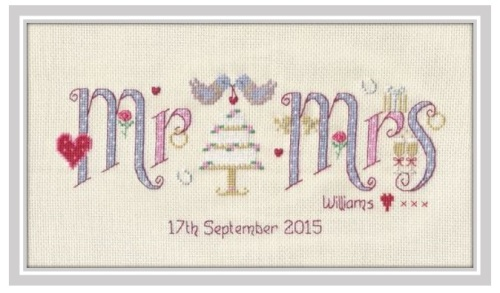 Wedding Mr & Mrs Sampler Kit - Nia Cross Stitch