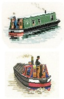 Modern and Traditional Narrow Boat set