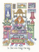In Bed with Crazy Cat Lady - Heritage Crafts