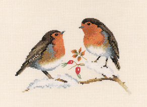 Winter Robins - Valerie Pfeiffer Cross Stitch