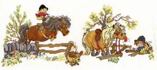 Crash Landing - Thelwell Cross Stitch