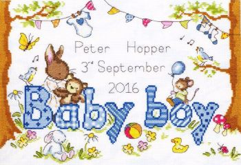 Birth Sampler - Bunny Love Boy - Bothy Threads