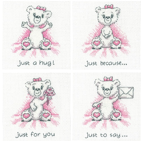 Justine Bear cross stitch cards