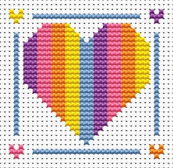 Heart Cross Stitch - Sew Simple
