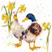 Ducks and Daffs cross stitch - Hannah Dale