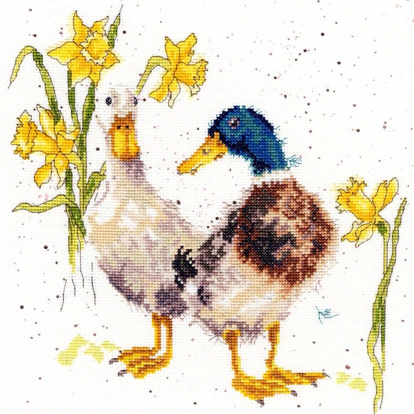 Ducks and Daffs cross stitch - Bothy Threads