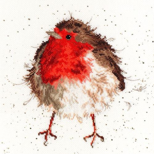 Jolly Robin cross stitch - Bothy Threads