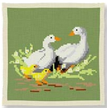 Geese -  Cross Stitch Kit (printed canvas)