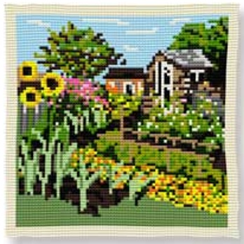 Allotment Cross Stitch (printed canvas)