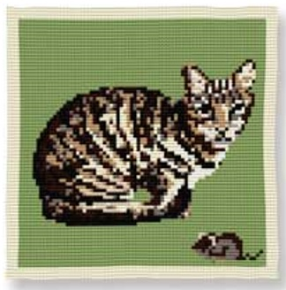 Farm Cat - Cross Stitch Kit (printed canvas)
