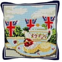 Afternoon Tea - Cross Stitch Kit (printed canvas)