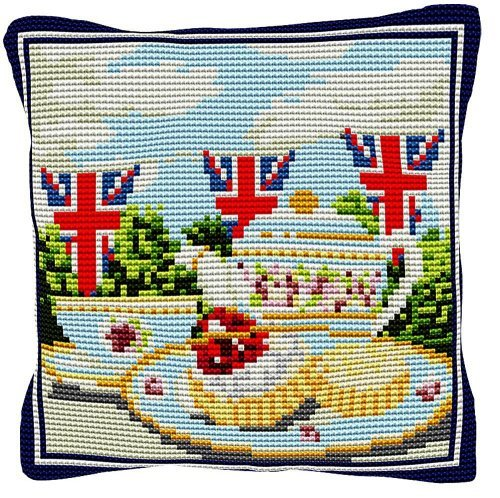 Afternoon Tea - Cross Stitch Kit (printed canvas)