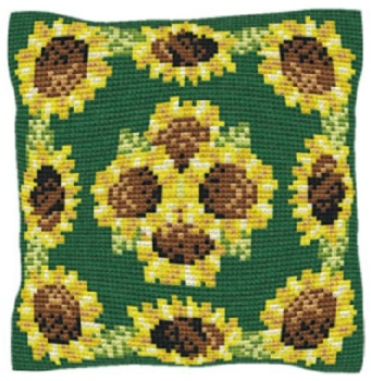 Sunflowers - Cross Stitch Kit (printed canvas)