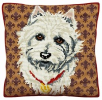 Westie 2 - Cross Stitch Kit (printed canvas)