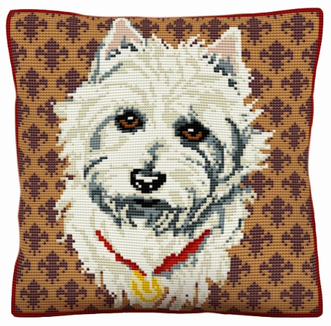 Westie - Cross Stitch Kit (printed canvas)